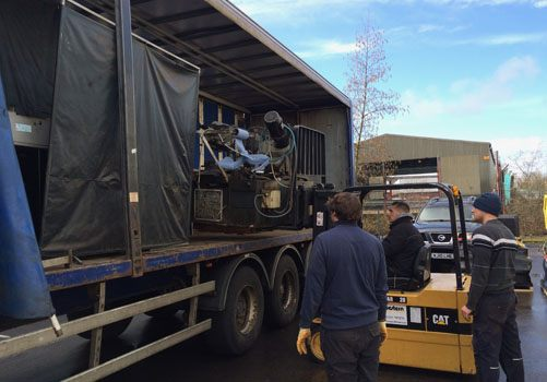 Ionic Systems being delivered on a lorry