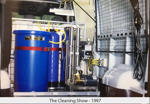 Demonstrating the Reach & Wash System at the Cleaning Show - 1997