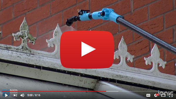 Video post about cleaning a conservatory professionally