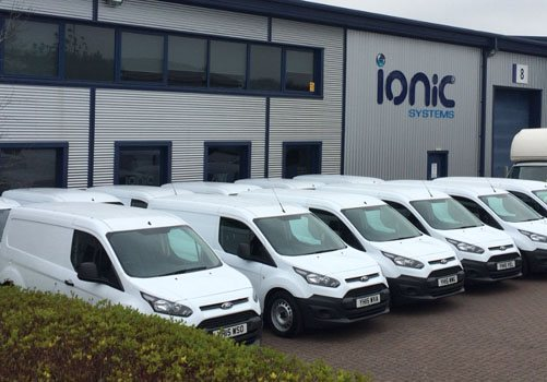 Ionic Systems building with a fleet of vans