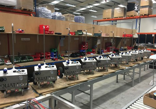 Quattro systems being built in the warehouse