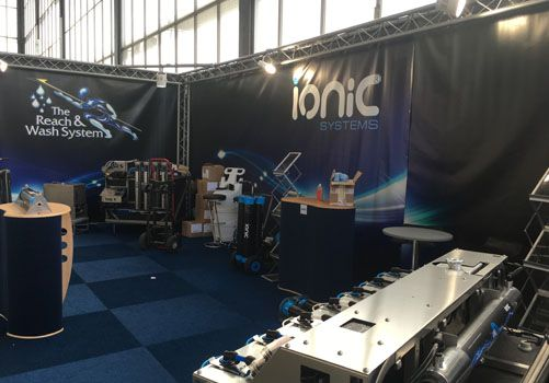 Ionic Systems Reach & Wash stand at show