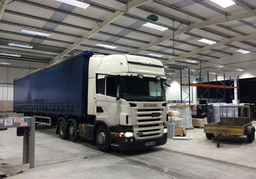 Lorry in the new premises