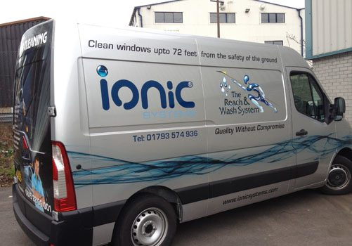 Newly branded Ionic Systems company van