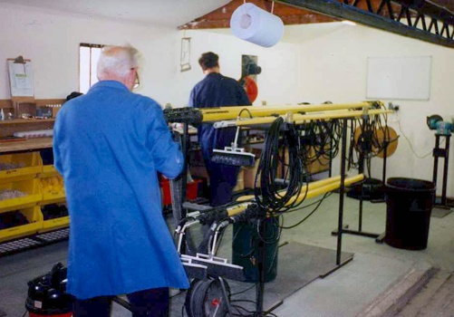 Reach & Wash systems being built in the warehouse