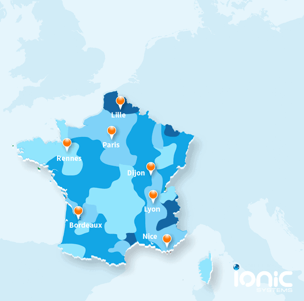 Map showing the quality of water in France