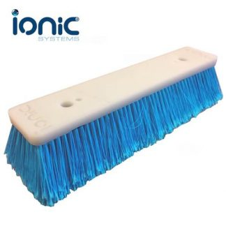 Ionic flocked brush