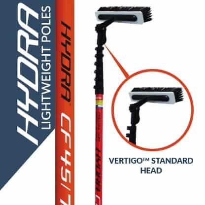 Hydra lightweight poles with the Vertigo standard head