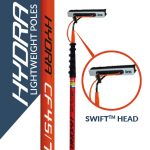 Hydra lightweight poles with the Swift head
