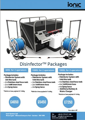 Ionic Disinfector Packages